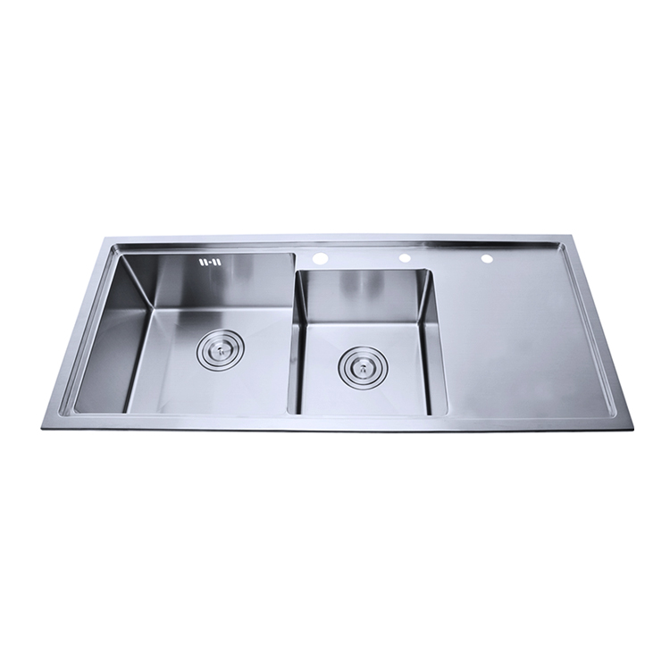 Small Radius Handmade Stainless Steel Undermount Kitchen Sink With Drainboard Laundry Cabinet Product On Alibaba