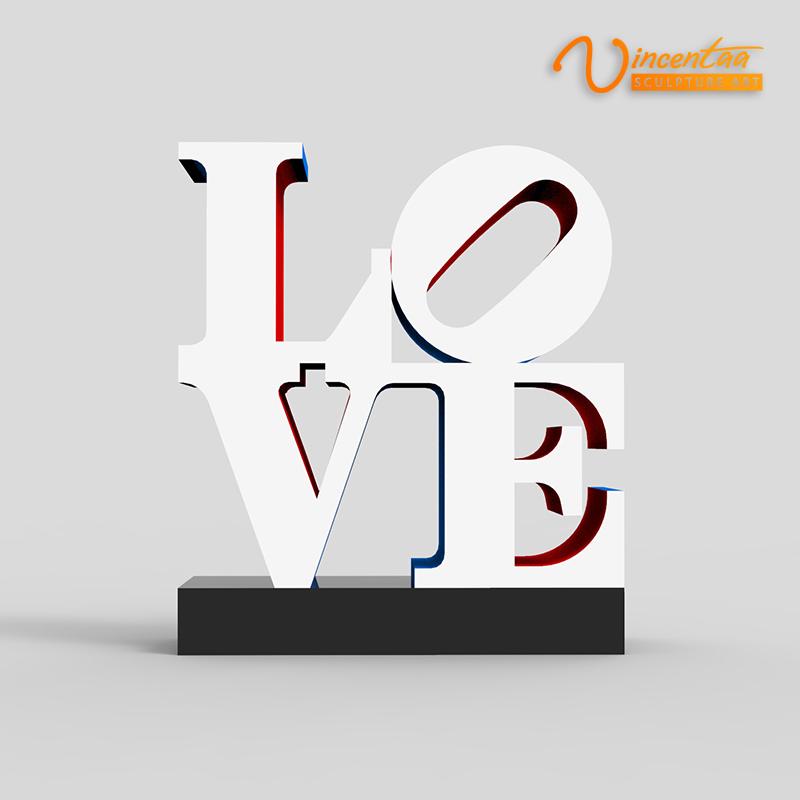 Landscape Outdoor Robert Indiana Love Sculpture For Sale - Custom Made Service