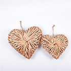 Wicker Best Design Wholesale Cheaper Handmade Wicker Willow Heart For Home Decoration Christmas Decoration