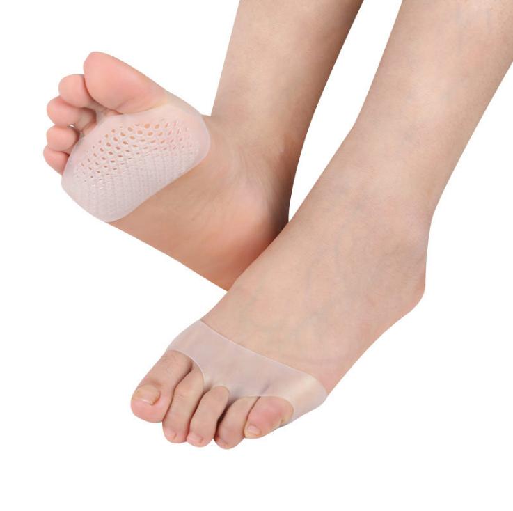 Лидер продаж, дышащие силиконовые гелевые подкладки для ног, металлические гелевые подкладки, сотовые передние подкладки для ног