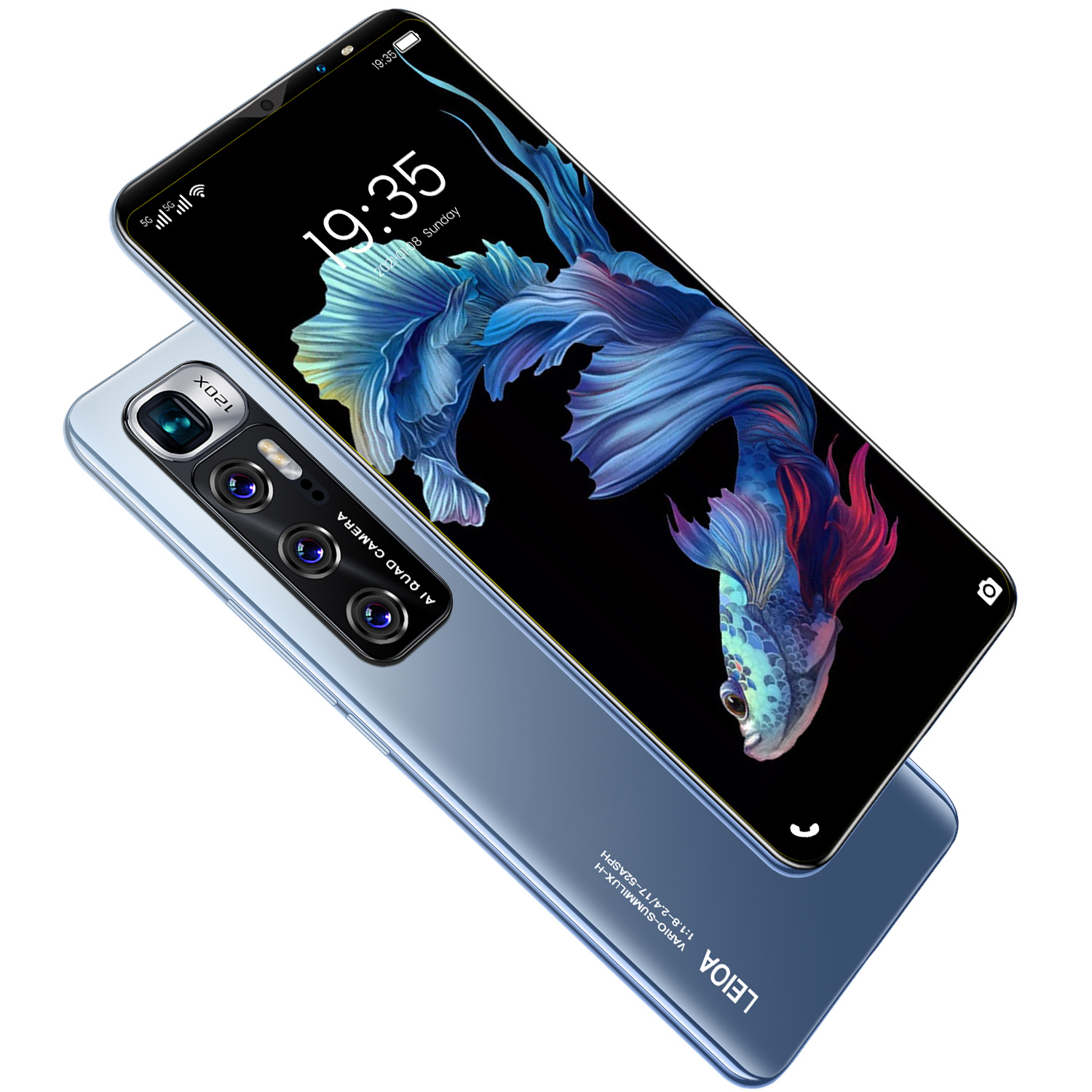 Newest M10 plus 6.1inch Phone 12GB RAM 512GB ROM Dual cards and Dual standby Smartphone 5G HD Full Screen Face ID Mobilephones