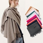 Hot Sell Womens Soft Cashmere Long Scarf Pashmina Shawls Wraps Winter Pure Color Scarf