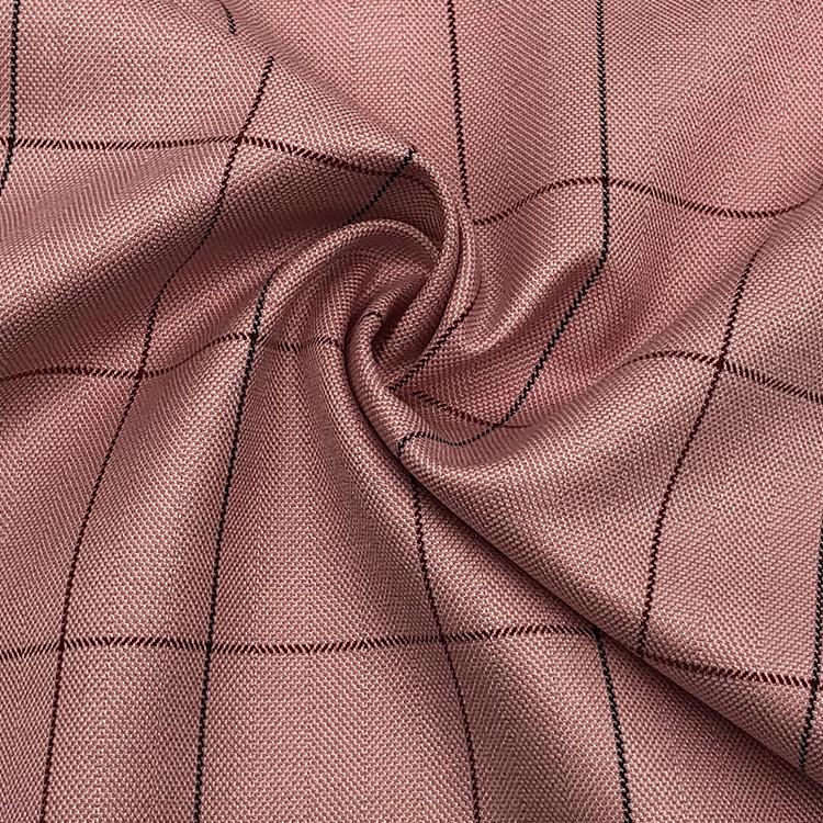 Весенне-летняя вискозная шелковая Смешанная клетчатая ткань для блузок и модных стилей