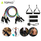 TOPKO 11PC Premium Resistance Bands Set, Workout Bands - with Door Anchor, Handles and Ankle Straps