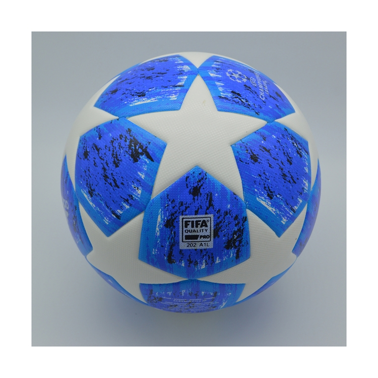 Chinese factory high quality custom design soccer ball wholesale blue training football balls