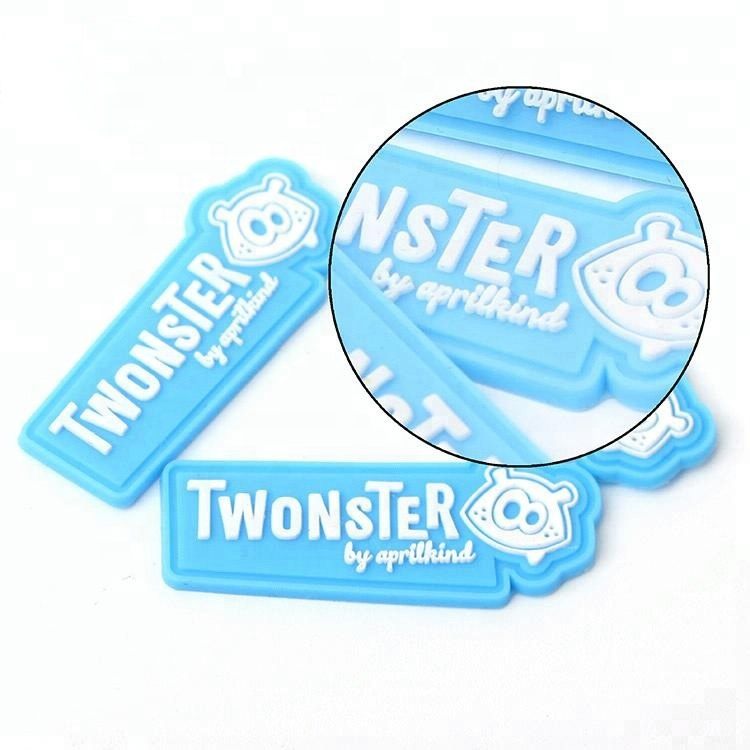 Soft Rubber Sticker OEM Verified Factory Custom 3D Animal Cartoon Logo PVC Silicone Patches Labels