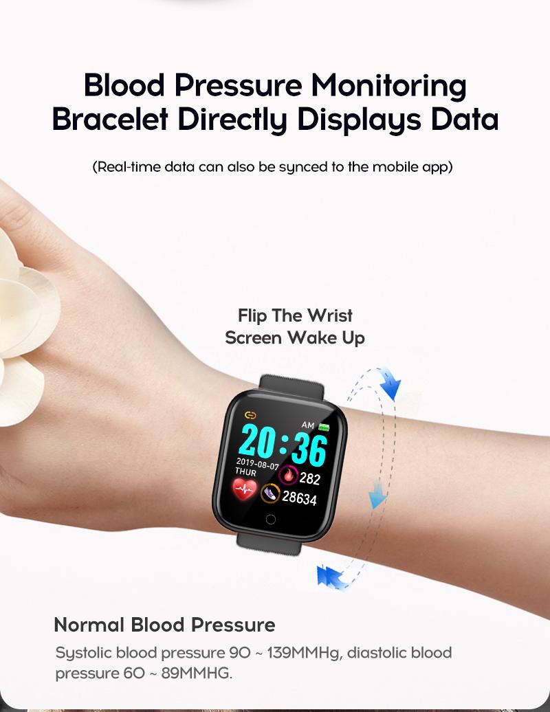 Смарт-часы дешевые Y68 Смарт-часы Bluetooth браслет D20 спортивный трекер фитнес-трекер монитор сердечного ритма фитнес-браслет