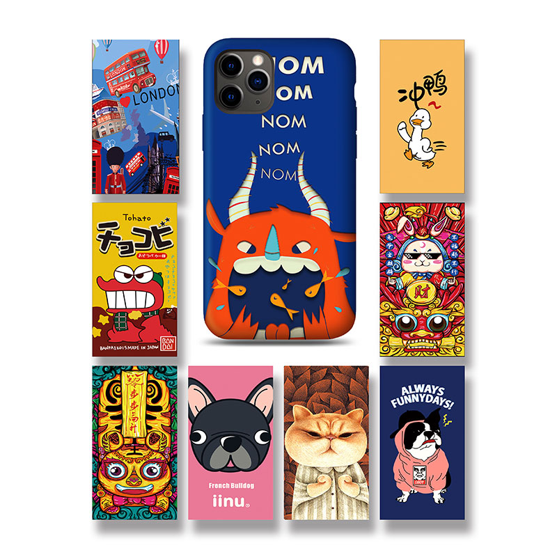 Devia China Colorful Back Sticker 20pcs/box 2.5D Mobile Screen Protector Colored Drawing Film with Packaging Box