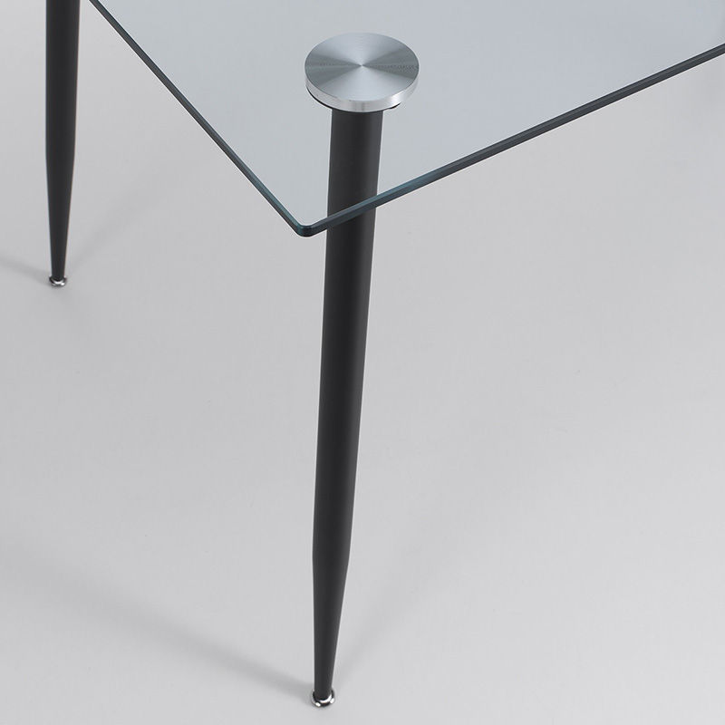 Free Sample Cheap Modern restaurant furniture 12 10 8 Seater Glass Top dining Table