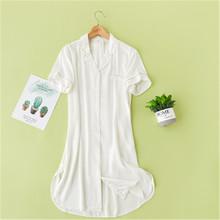 2020 ночные рубашки, одноцветные пижамы, длинное домашнее платье, ночная рубашка для сна и отдыха, сексуальная ночная рубашка для женщин H72(Китай)
