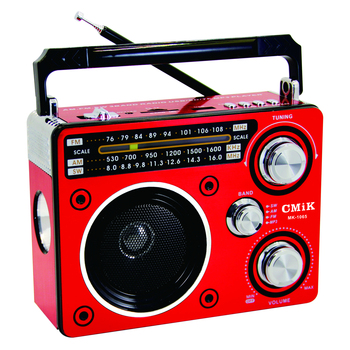 cmik mk-1065 English Spanish FM AM SW MP3 player 1000 mah battery am fm built-in portable radio