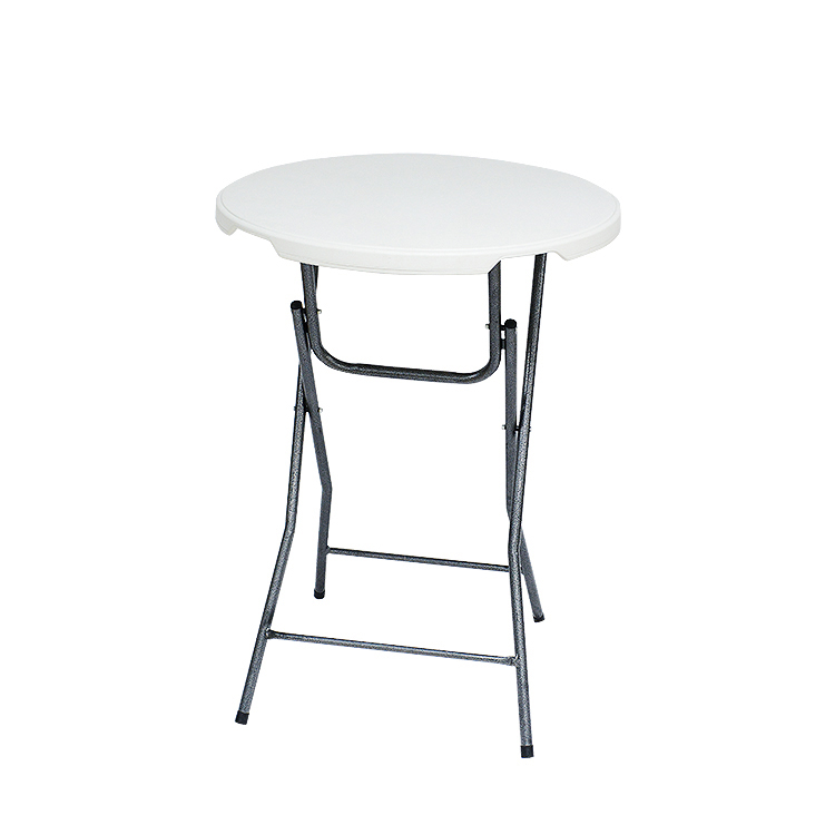 Foldable Portable Outdoor 80CM Cocktail Round Bar 110CM Height Folding Tables Used