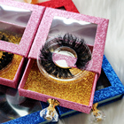 Hand Made False Eyelashes Strip Luxury Silk Natural Customized Real Fur Strip Faux Hand Made Human Hair False Eyelashes 25mm Wholesale Lashes Vendor