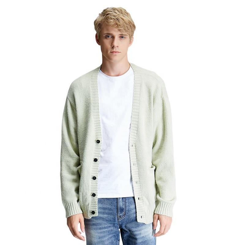 BR пара мужской кардиган свитер осень 2021 международная торговля повседневная мужская и женская трикотажная одежда с длинным рукавом и v-образным вырезом