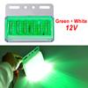 Green + White 12V