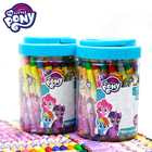 Drawing Wholesale Cheap Little Pony 48 Colors Baby Wax Pencil Crayon In Jar For Kids Drawing