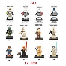 12 шт. Звездные войны Штурмовики клонетрупы Snowtroopers Deathtroopers строительный блок совместим с Legoinglys Star Wars(Китай)