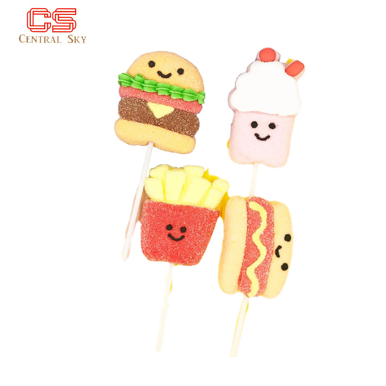 Health Snack Food Cotton Candy Marshmallow Lollipop Candy
