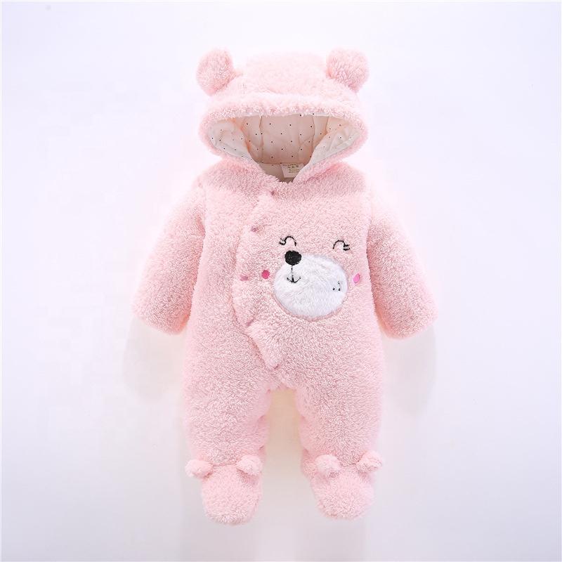 B60269A зимний детский утепленный комбинезон удобное хлопковое флисовое нижнее белье для новорожденных