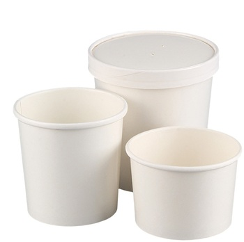 Disposable Take Away Soup Cup with lid