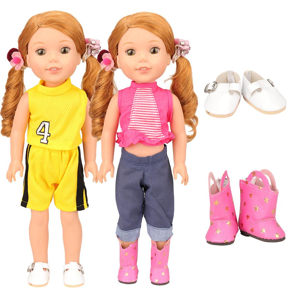 Аксессуары для кукол, 13 предметов/комплект, 7 одежды, 4 туфли, 2 резинки, 14,5 дюйма