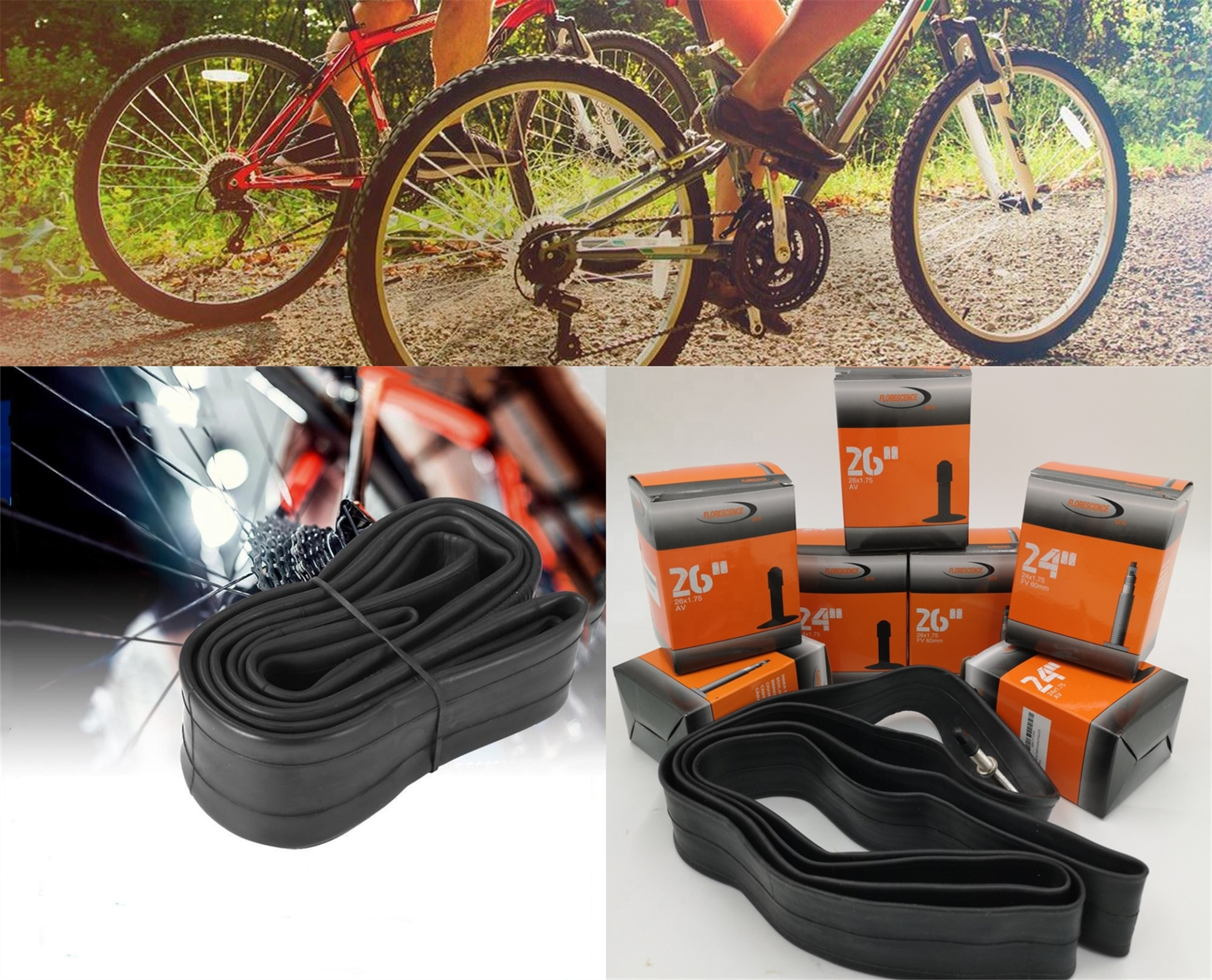 29x1.95/2.125 Bicycle Tubes Bicycle Inner Tubes Wholesale From China
