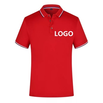 Wholesale Uniform Man Clothes 100% Cotton Custom Mens Polo T-shirt With Printed Logo