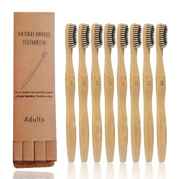 Soft bristle eco friendly bamboo toothbrush 100% organic for adult