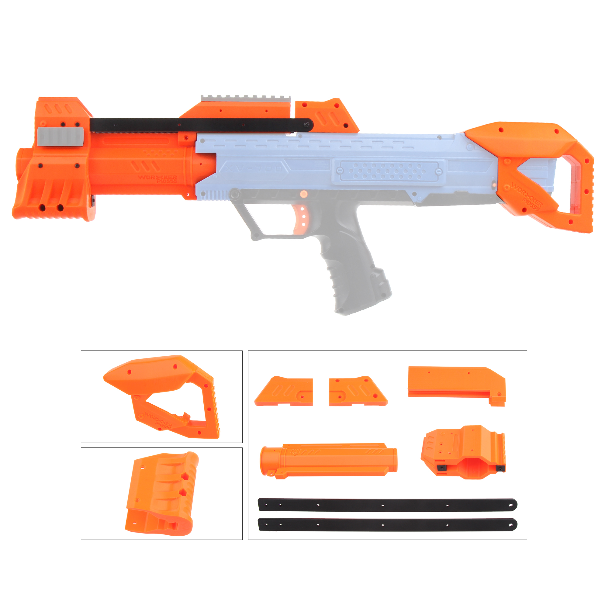 NERF Rival Apollo XV-700 Blaster Red for sale online