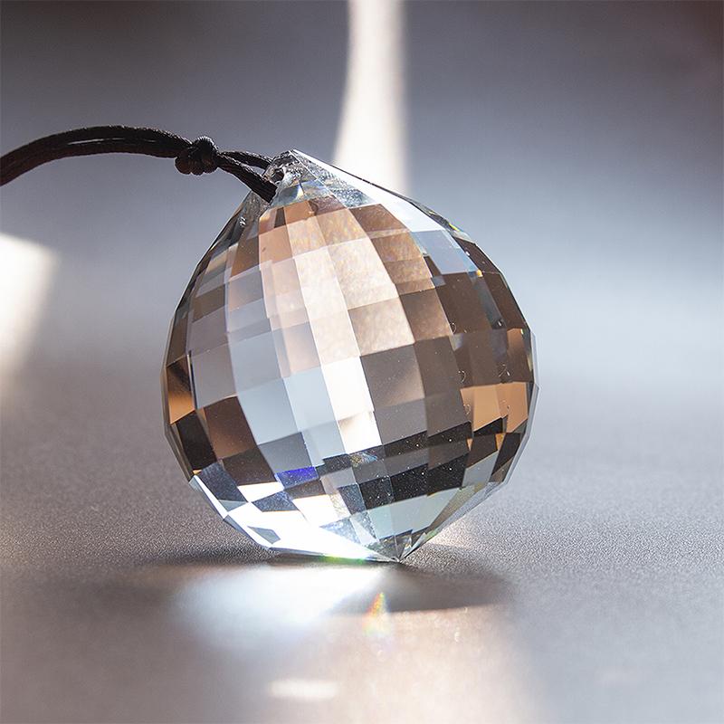 H/&D Crystal Rainbow Suncatcher Hanging Glass Ball Prism