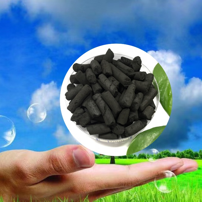 Catalyst columnar activated carbon in the chemical industry