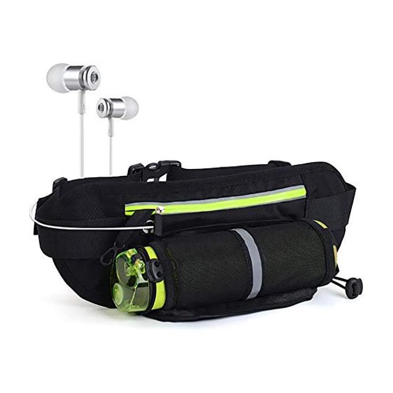 Custom Logo Comfortable Gym Jogging Running Waist Pack Zipper Belt bag fanny pack For Men Women