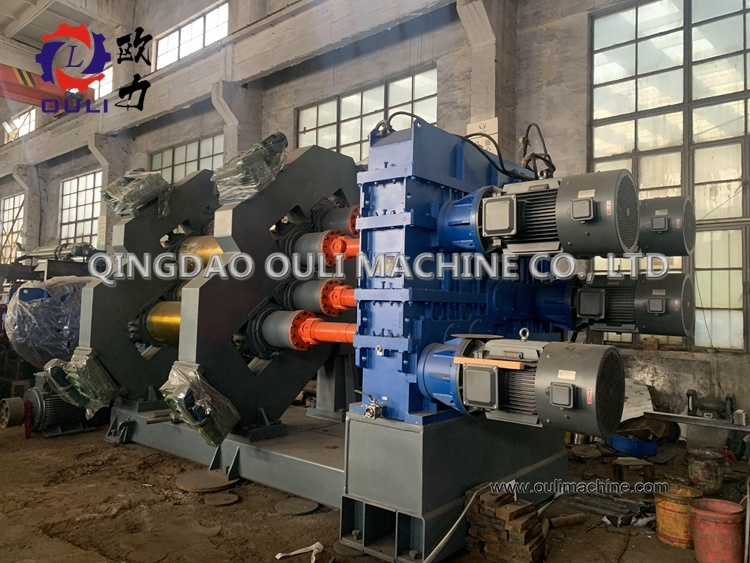22 inch Embossing calender machine,  Four roll calendering machine with universal Shaft