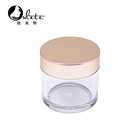 100ml 150ml With Cap 100ml 30ml Cosmetic Jar Cosmetic Packaging 15ml 30ml 50ml 80ml 100ml 150ml Clear Plastic Jar Pet Jar With Gold Plastic Cap