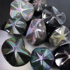 Gemstone Obsidian Obsidian High Quality Natural Gemstone Rainbow Obsidian Pentagram Folk Crafts Crystal Carving For Gift