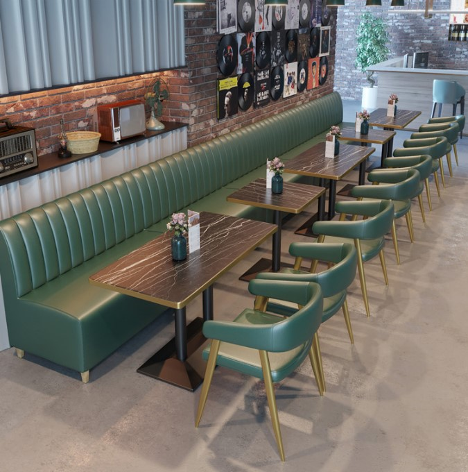 Wholesale restaurant furniture modern upholstered cafe hotel booth seating leather wood restaurant booth sofa