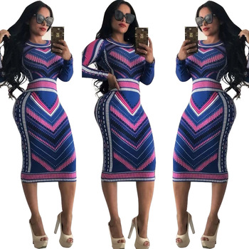 New Arrival Plus Size Sheer Bodycon Maxi Dress For Ladies Women All Over Printed Dress