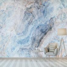 Виниловые обои на заказ, 3D классические шелковистые синие абстрактные чернила, пейзаж, мрамор, ТВ фон, обои, домашний декор, Tapety(Китай)