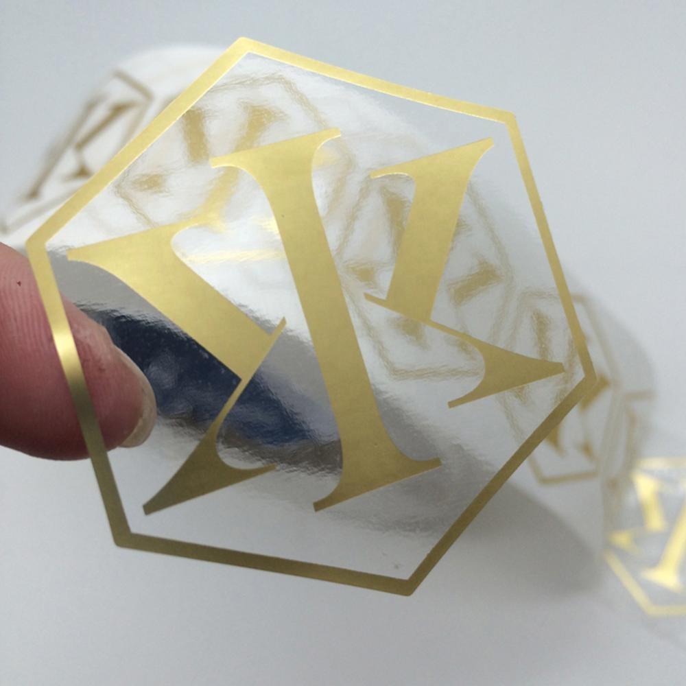 Self Adhesive Vinyl Die Cut Clear Transparent Packaging Custom LOGO Labels Stickers