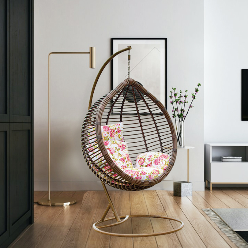 patio swing chair lobby wicker double seater garden rattan patio swings hanging egg chair