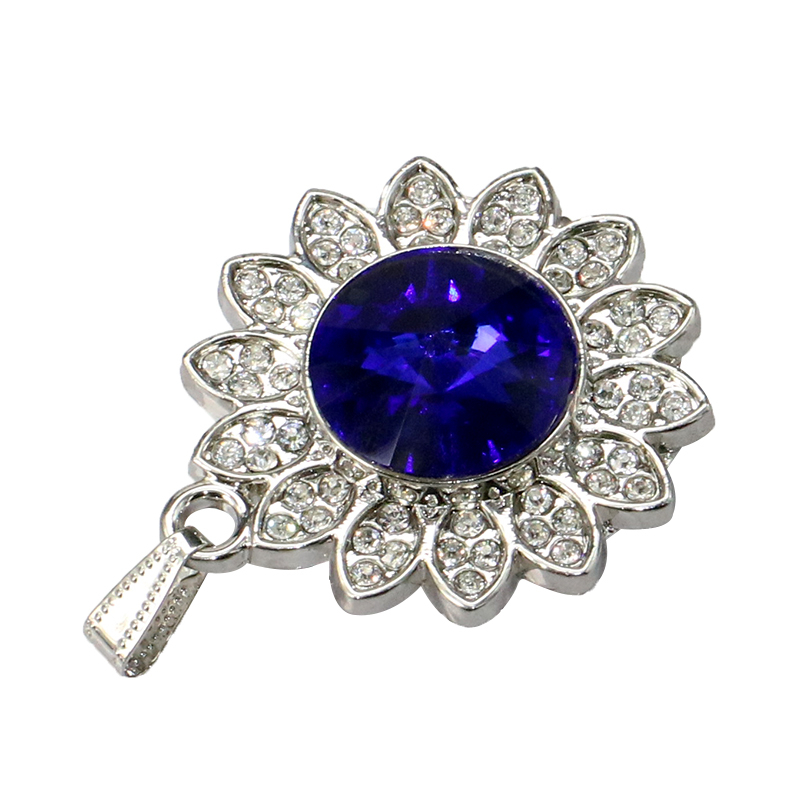Pen driver Jewelry gem Pendrive 8gb 16gb 32gb 4 64 128 gb 128GB Cle USB Flash drive Disk U Disk mini Metal Crystal Necklace Gift - USBSKY   USBSKY.NET