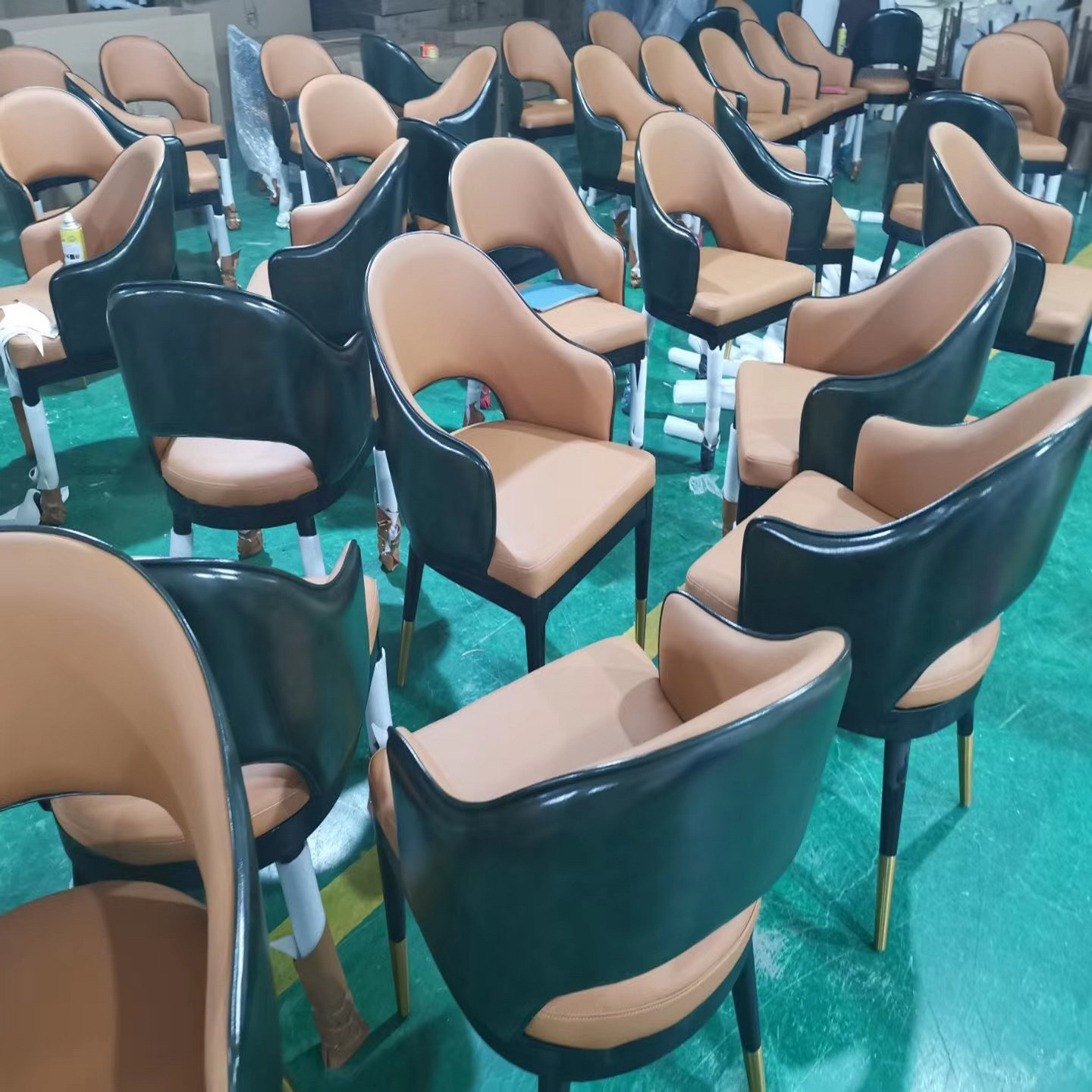 restaurant furniture dining chair ash wood chair optional color leather chair