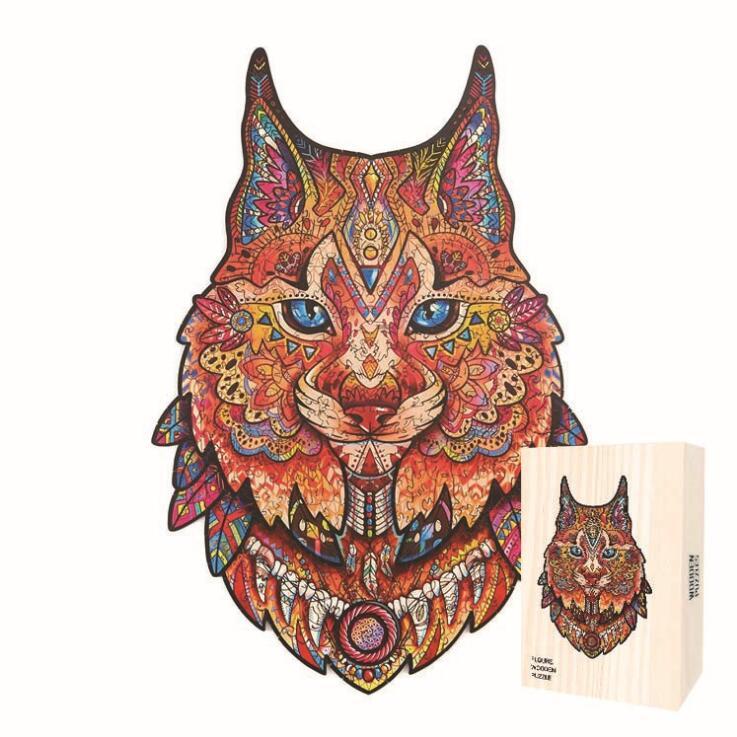 3D уникальный деревянный пазл игрушки сова Лев лиса уникальными цветными в форме животных Заказные деревянные головоломки формы