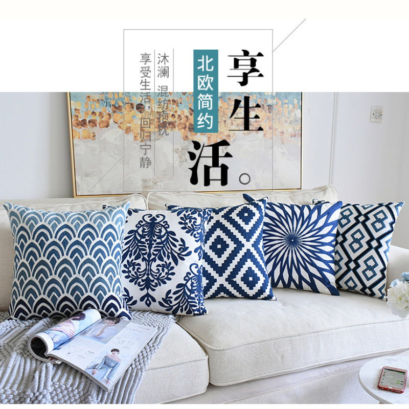 Sofa Pillow Cushions Comfort 3d Covers Organic Decorative Pillows Cotton Embroidery Cushion Cover Buy Cotton Embroidery Cushion Cover Throw Pillow Case Home Decor Lumbar Back Embroidered Cushions Designs Mandala Cotton Embroidery Cushion
