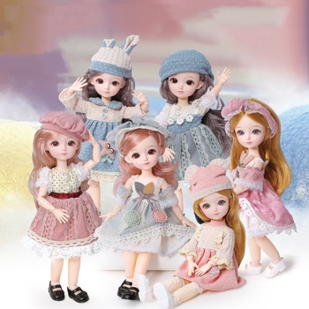 12 Inch 31cm 23 Moveable Joint Vinyl Dolls Toys Lovely Princess Doll Fashion Gift Decor Pretend Play Doll For Girls
