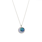 Factory fashion jewelry silver 925 sterling rose gold plated circle abalone sea shell necklace for woment