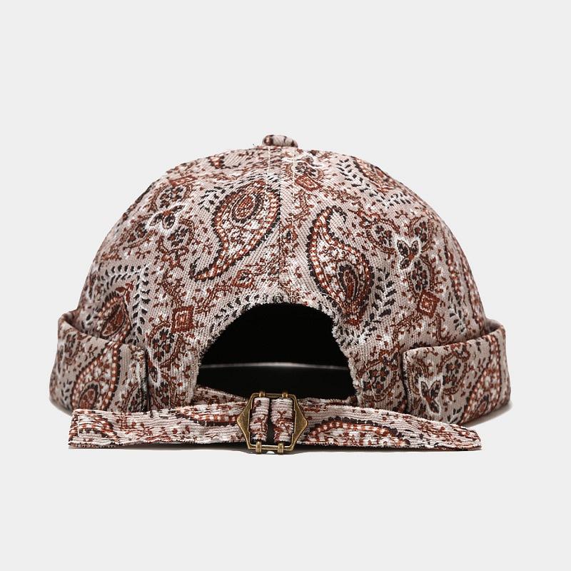 2021 Chic Retro Adjustable Beanie Hat Worker Sailor Brimless Rolled Cuff Retro Fashion Brimless Hat