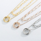 Chain Jewelry Necklace Chain Vintage Sweater Chain Titanium Stainless Steel Double Gold Plated Jewelry Necklaces