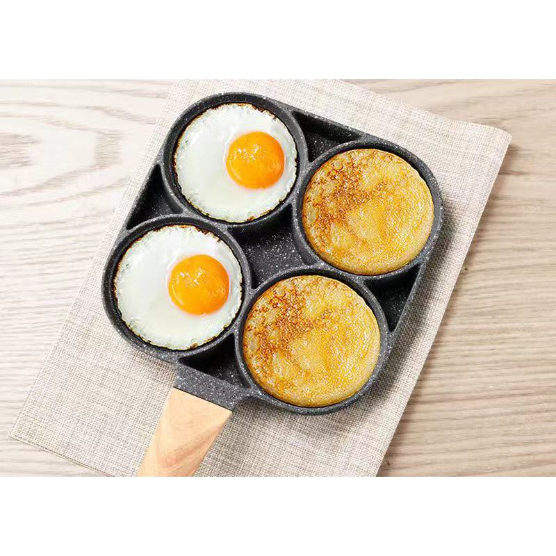 High Quality Cooking Aluminum Cookware Four-Hole Fried Egg Non-Stick Fry Pan