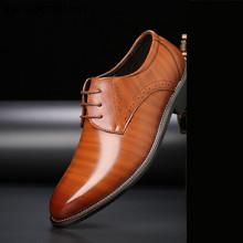 Черные оксфорды для мужчин; Кожаные свадебные мужские официальные туфли; Коричневые модельные классические туфли; Мужская модная обувь; ...(Китай)